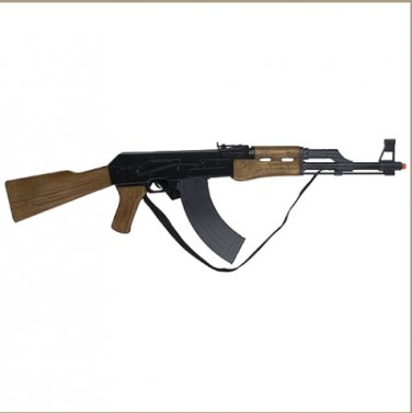"""AK-47"" Style 8 Shot Cap Assault Rifle - Black Finish"