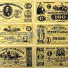 "Confederate Replica Currency Set ""A"""