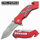 """Tac-Force """"Southern Pride"""" Assisted Opening Rebel Heritage Rescue Folding Knife"""