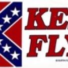 "Old Georgia Battle Flag ""Keep It Flying!"" Bumper Sticker"