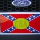 Confederate Flag & CSA Emblem License Plate