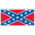 Rebel Flag Auto License Plate