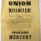 Union Dissolved- Charleston Mercury Extra