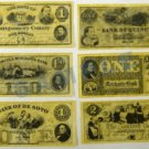 Union States Replica Currency Set
