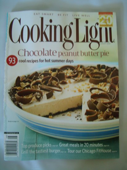 Cooking Ligth Magazine-August 2007-Chocolate peanutbutter pie FREE SHIPPING!