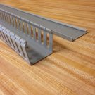 """2 NEW 2"""" X 2"""" X 39"""" OPEN SLOT WIRE DUCT/CABLE RACEWAY/TRUNKING WITH TAPE"""