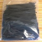 "1000 NEW 8"" BLACK WIRE CABLE ZIP TIES NYLON TIE WRAPS 40 Lb Strength"