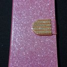 Iphone 6 pink Bling Diamond Leather Case