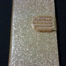 Iphone 6 Gold Bling Diamond Leather Case