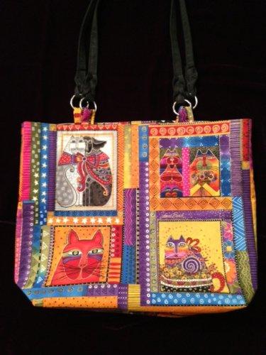Multicolor Cat Print Handbag