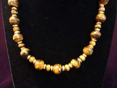 Faceted Tiger's Eye Bead Necklace