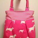 Pink Dog Print Purse