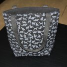 Black & Gray Cat Print Handy Tote