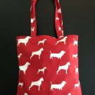 Red Dog Print Deluxe Handy Tote