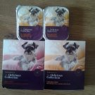 4x the delicious collection chicken pate dog food diff size.