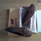 BRAND NEW IN BOX LEOPARD SKIN DESIGNER flat sole/ballerinas shoe (SIZE5)
