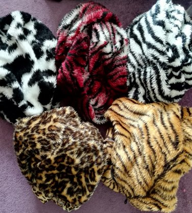 Faux fur EXOTIC ANIMAL CAR SEATS of EXCESS PURCHASE AND UNWANTED GIFT SALE LOT 5