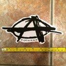 "7"" Anarchy Eyewear Sticker Decal - 8"" Black Logo - Ski Snowboard Surf Skate Sunglasses Lens Jacket"