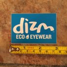 DIZM Eyewear Sticker Decal - Blue - Surf Sunglasses Goggles Snowboard Skate Eco 3