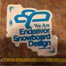 "8"" Endeavor Snowboard Sticker - Blue - Decal Jacket Pants Bindings Boots Gloves Mens Ski 2"