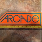 "11.5"" Arcade Clothing Sticker Decal - Orange Logo - Pants Snowboard Mens Skateboard Surf Womens 3"