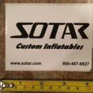 SOTAR Whitewater Sticker Decal Black Kayak Canoe SUP Surf Whitewater Rafting