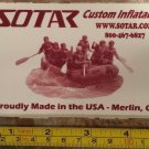 "5"" SOTAR Whitewater Sticker Decal Red Kayak Canoe SUP Surf Whitewater Rafting"