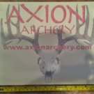 """10"""" Axion Archery Sticker Decal Red Bow Hunting Deer Camping Tools"""