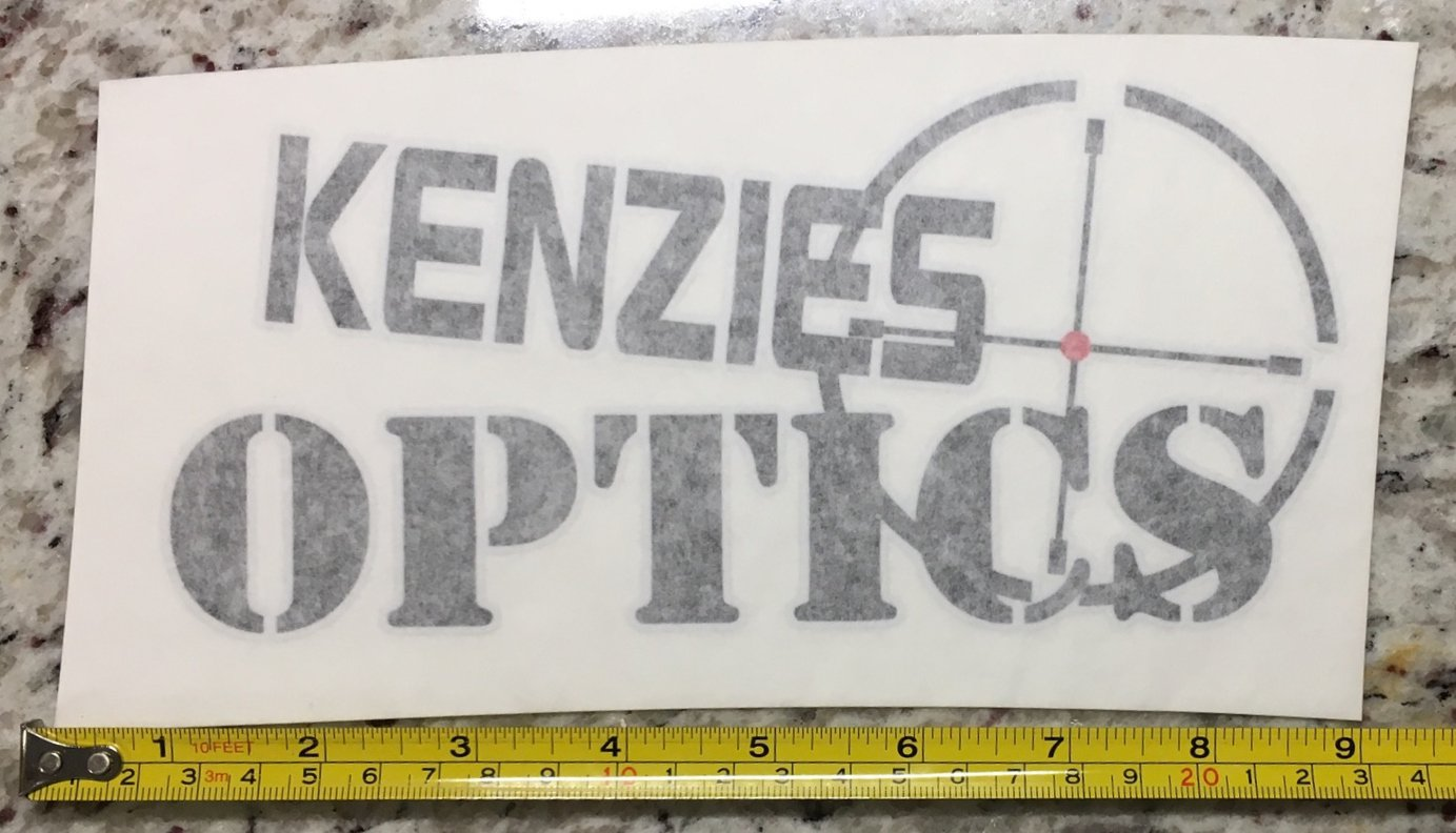 Kenzies Optics Sticker Decal Sights Riflescopes Firearms Spotting Hunting Deer Guns