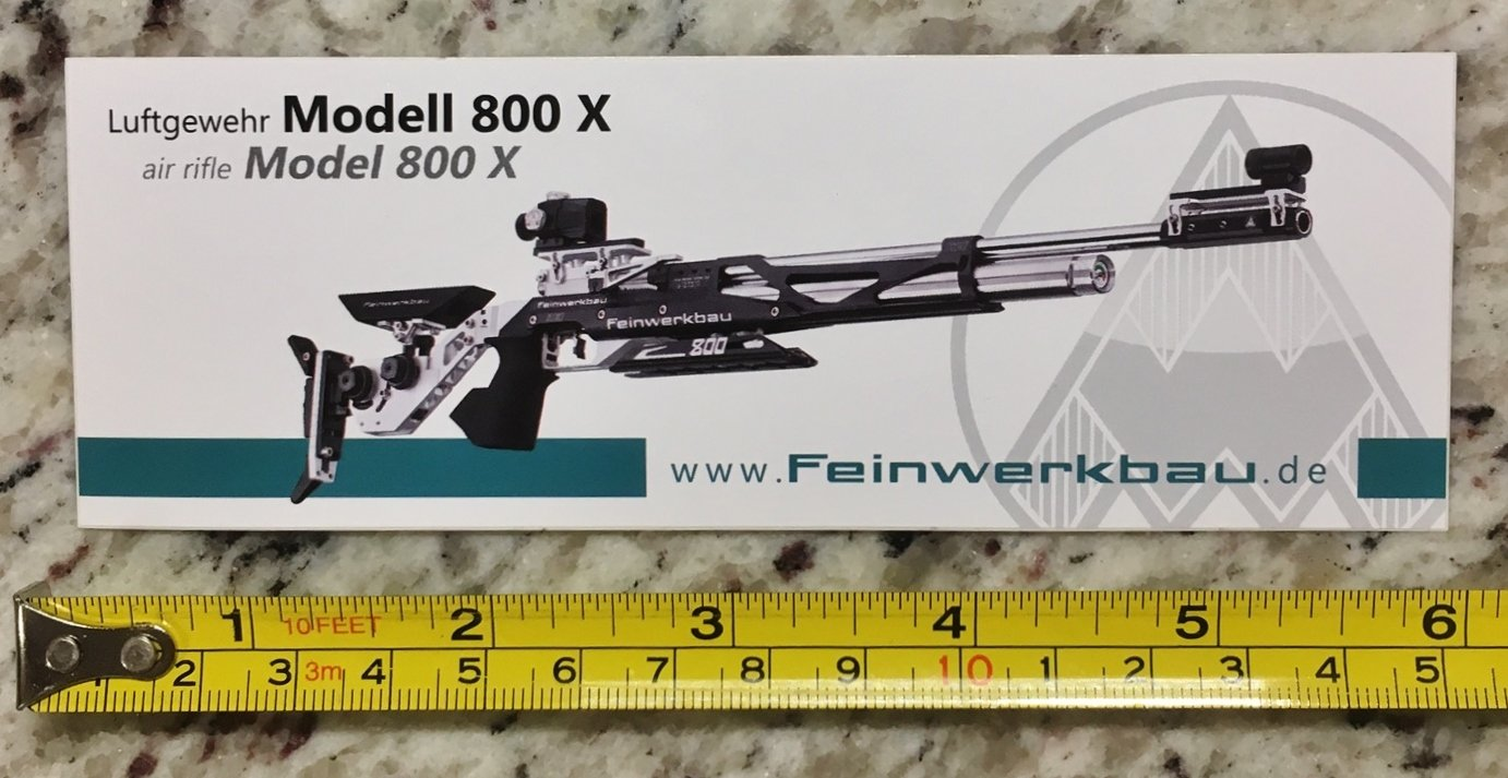Feinwerkbau 800X Sticker Decal Tactical AR M4 Firearms Hunting Militia Target