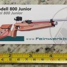 Feinwerkbau 800 Junior Sticker Decal Tactical AR M4 Firearms Hunting Militia Target