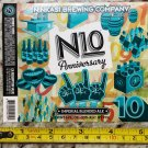Ninkasi Brewing Label N10 Anniversary Shift Beer Brewery Bicycle Colorado