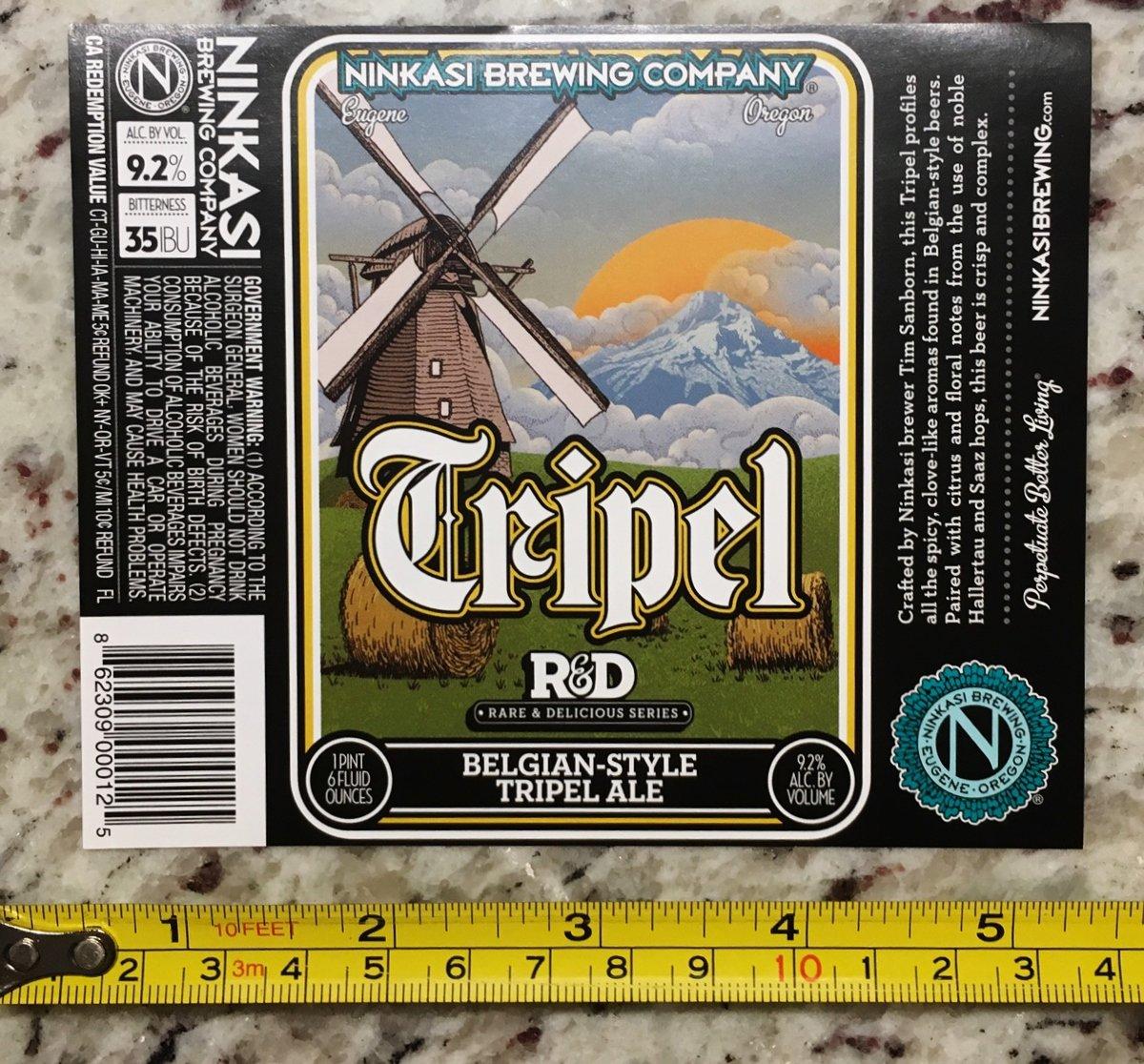 Ninkasi Brewing Label Tripel Ale Shift Beer Brewery