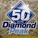 Diamond Peak Sticker XL Mountain Ski Resort 9X9 Decal Snowboard Nevada