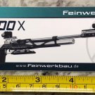 Feinwerkbau 800X Sticker 2 Decal Tactical AR M4 Firearms Hunting Militia Target
