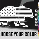 "Bear USA Flag Sticker 5.5"" US American Sitka Gear Leuopold Alaska BCM Decal XO"