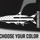 "5.5"" Tarpon US Flag Sticker USA American Fly Sage Redington Fishing Simms Decal XO"