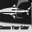 5.5 Shark USA Flag Sticker Decal US 13 American Great White DIE CUT G Loomis XO