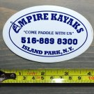 Empire Kayaks Sticker Decal SUP Surf Paddle New York Canoe Whitewater Suit