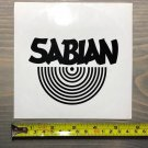 Sabian Cymbals Sticker Black Drums