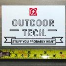 "4"" Outdoor Technology Sticker Decal Tech White Yeti Sasquatch"