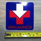 Avalaunch Sticker Logo Decal Festival Blue Hiking Ice Snow Climbing Traction Winter Crampons