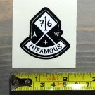 """2"""" Atomic Skis Sticker Decal Black Infamous Ski Bindings Boots Skis Goggles Skiing"""