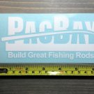"""6"""" Pacific Bay Fishing Rods Sticker PacBay Pac Bay Lures Decal Jigs Bass Fly"""