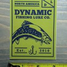 Dynamic Lures Sticker Decal Brown Trout Fishing Bass Fly Rod Reel Line