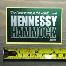 Hennessy Hammock Sticker Decal Tents Hiking Green