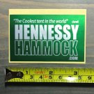 Hennessy Hammock Sticker Decal Tents Hiking Light Green