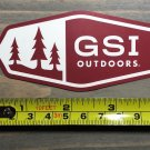 "GSI Outdoors Sticker 4"" Decal Cookware Backpacking Tent Red Camping Hiking"