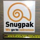 """5"""" Snugpak Sticker Decal Sleeping Bag White Tent Air Pad Camping Hiking Trekking"""