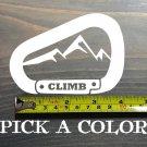 """Rock Climbing Sticker Decal Carabiner 4"""" Climb Mountains Black Diamond Evolv XO"""
